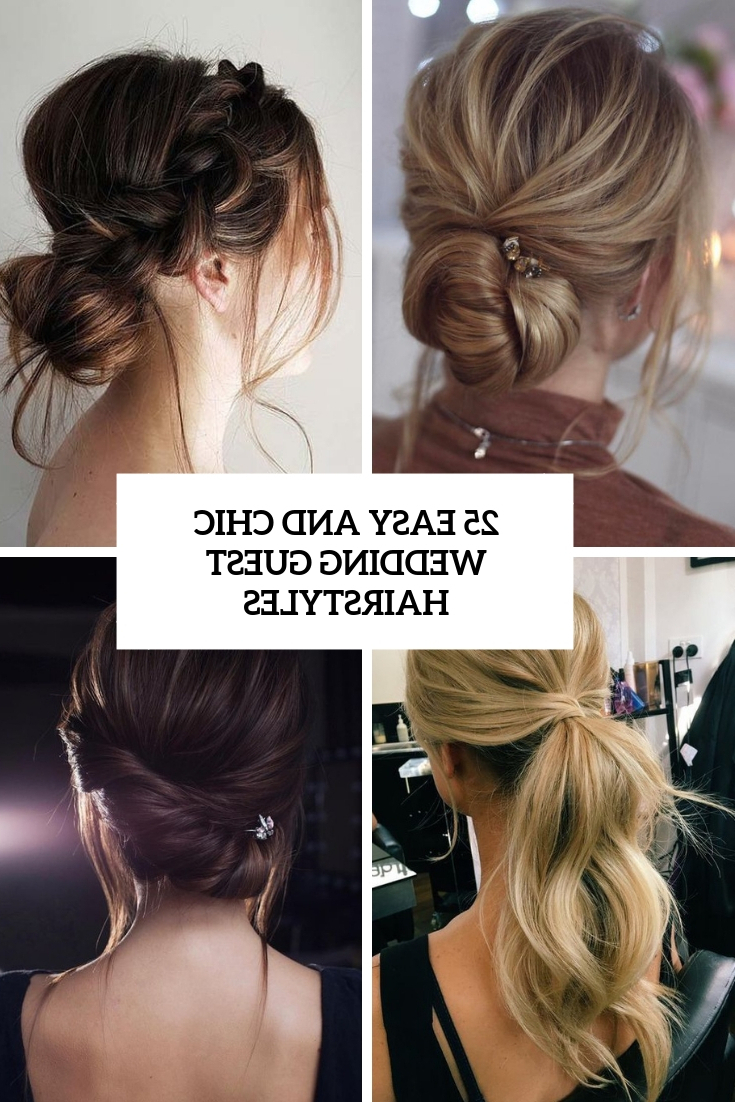 Trendy Halo Ponytail Hairstyles With Regard To 25 Easy And Chic Wedding Guest Hairstyles – Weddingomania (View 9 of 20)