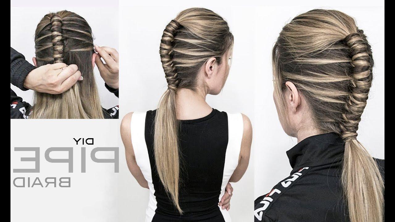Trendy Infinity Braid Ponytail Hairstyles Regarding Pipe Braid Diy – Single Infinity Braid – Easy (View 16 of 20)