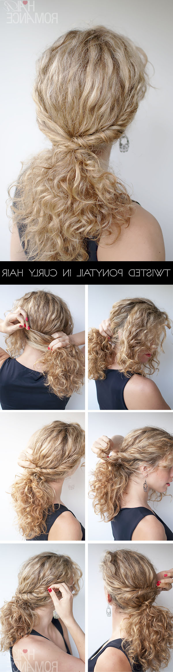 Trendy Twist Into Ponytail Hairstyles Inside Curly Hairstyle Tutorial – The Twist Over Ponytail – Hair Romance (Gallery 16 of 20)