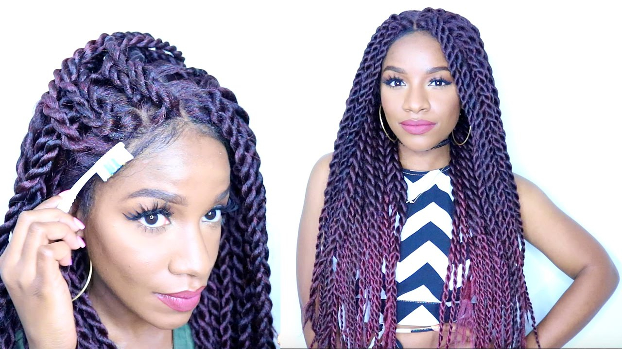 Trendy Twisted Lace Braid Hairstyles With How To Style Braided Lace Wig⎮Havana Twists⎮Senegalese Twist (Gallery 10 of 20)