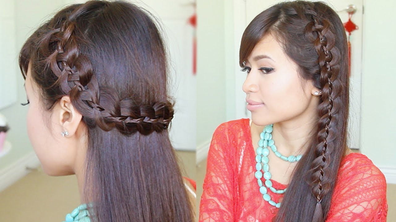 Unique 4 Strand Lace Braid Hairstyle For Long Hair Tutorial Throughout Well Liked Twisted Lace Braid Hairstyles (Gallery 12 of 20)