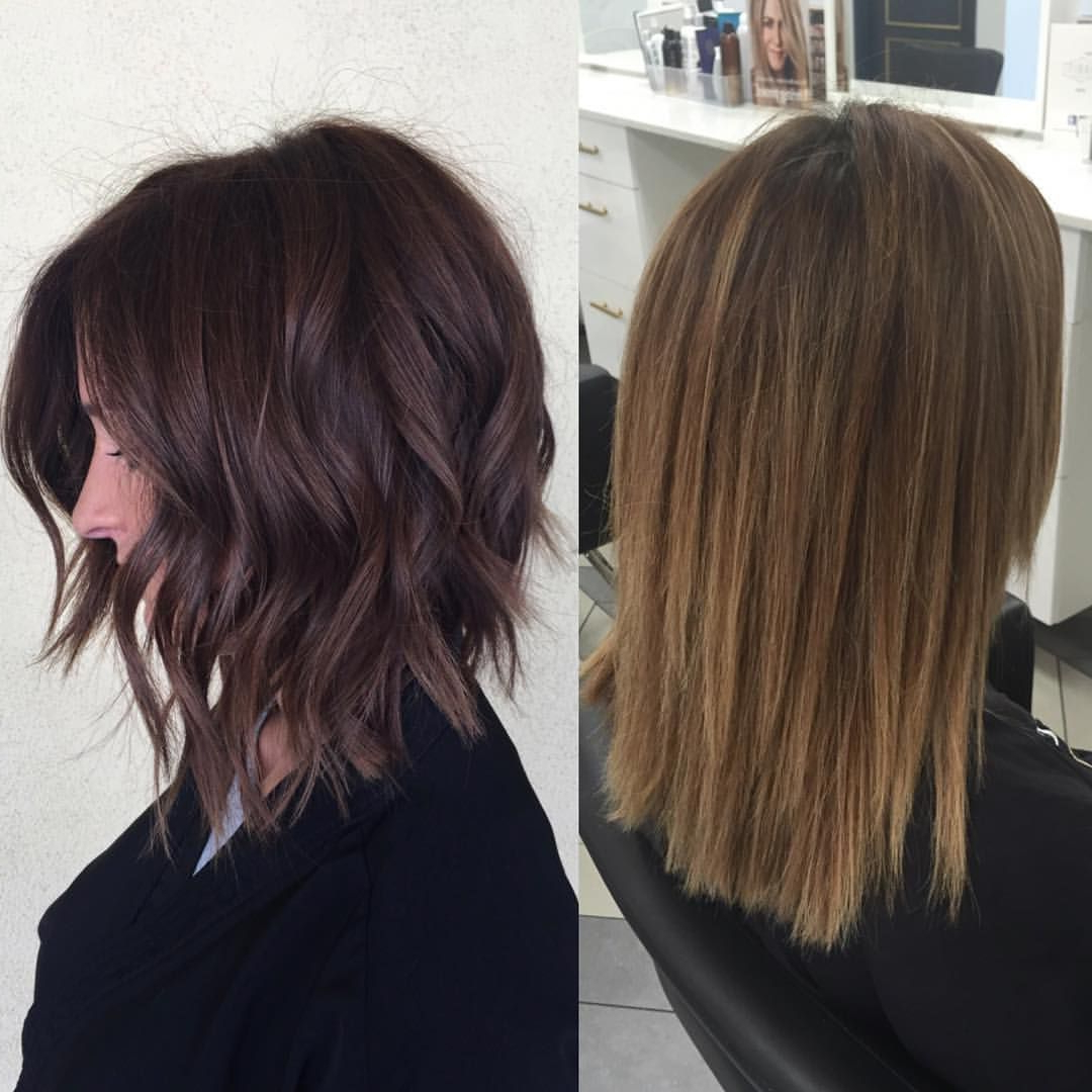 Well Known Chopped Chocolate Brown Hairstyles For Long Hair Throughout Hair Cut And Style On Right Side (Gallery 15 of 20)