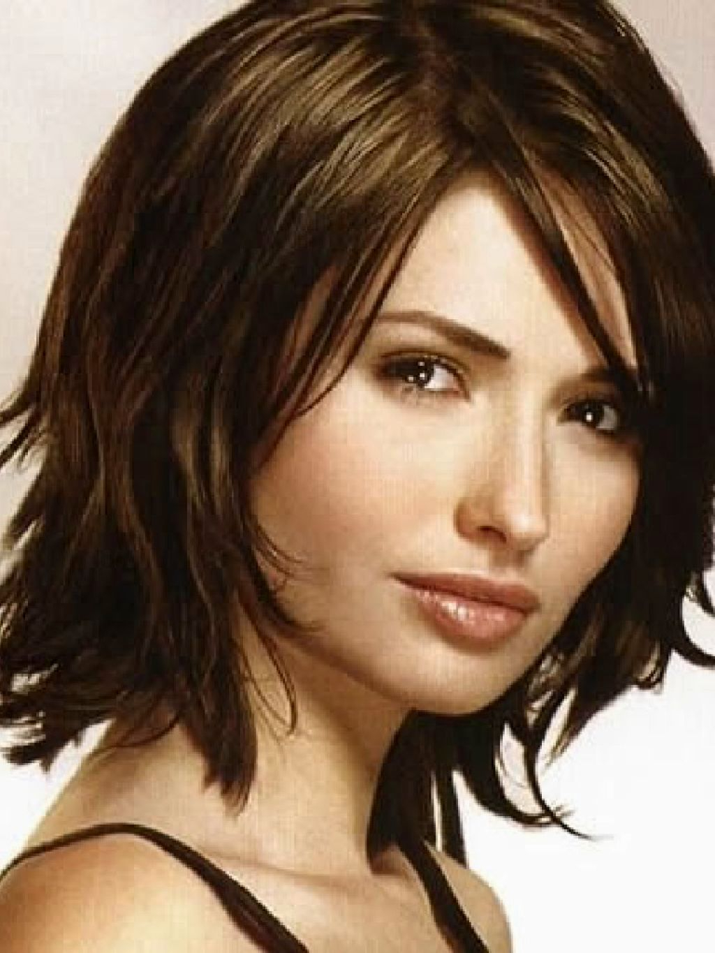 Well Known Piece Y Medium Length Hairstyles Throughout Haircut Women–Medium Shoulder Length In Piecey Layers, Side Part (Gallery 1 of 20)