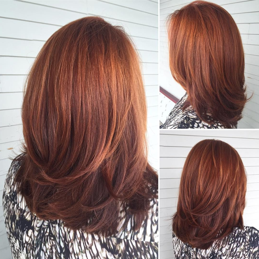 Well Known Radiant Red Bob Haircuts Pertaining To Radiant Red Layers (Gallery 2 of 20)