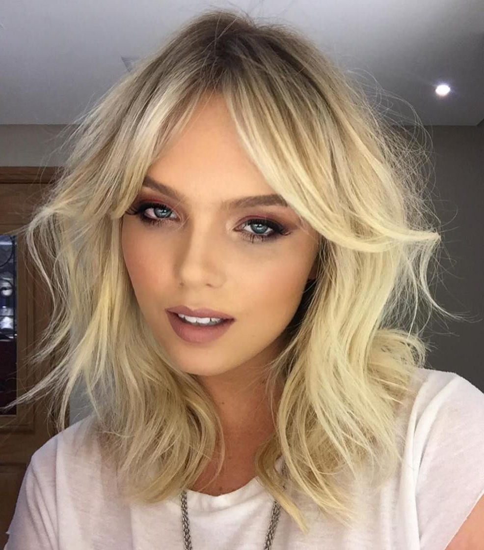 Well Known Short Blonde Side Bangs Hairstyles With Regard To 20 Best Hairstyles For Big Foreheads To Enhance Your Features In (View 18 of 20)