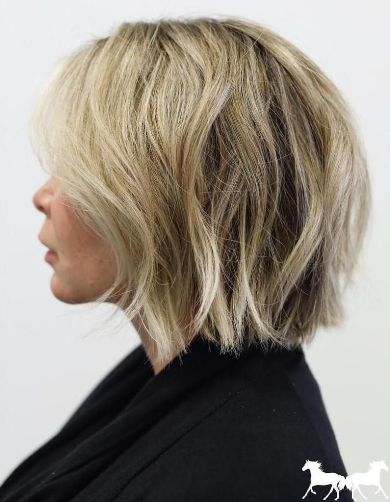 Well Known Straight Tousled Blonde Balayage Bob Hairstyles In 70 Fabulous Choppy Bob Hairstyles In (View 15 of 20)