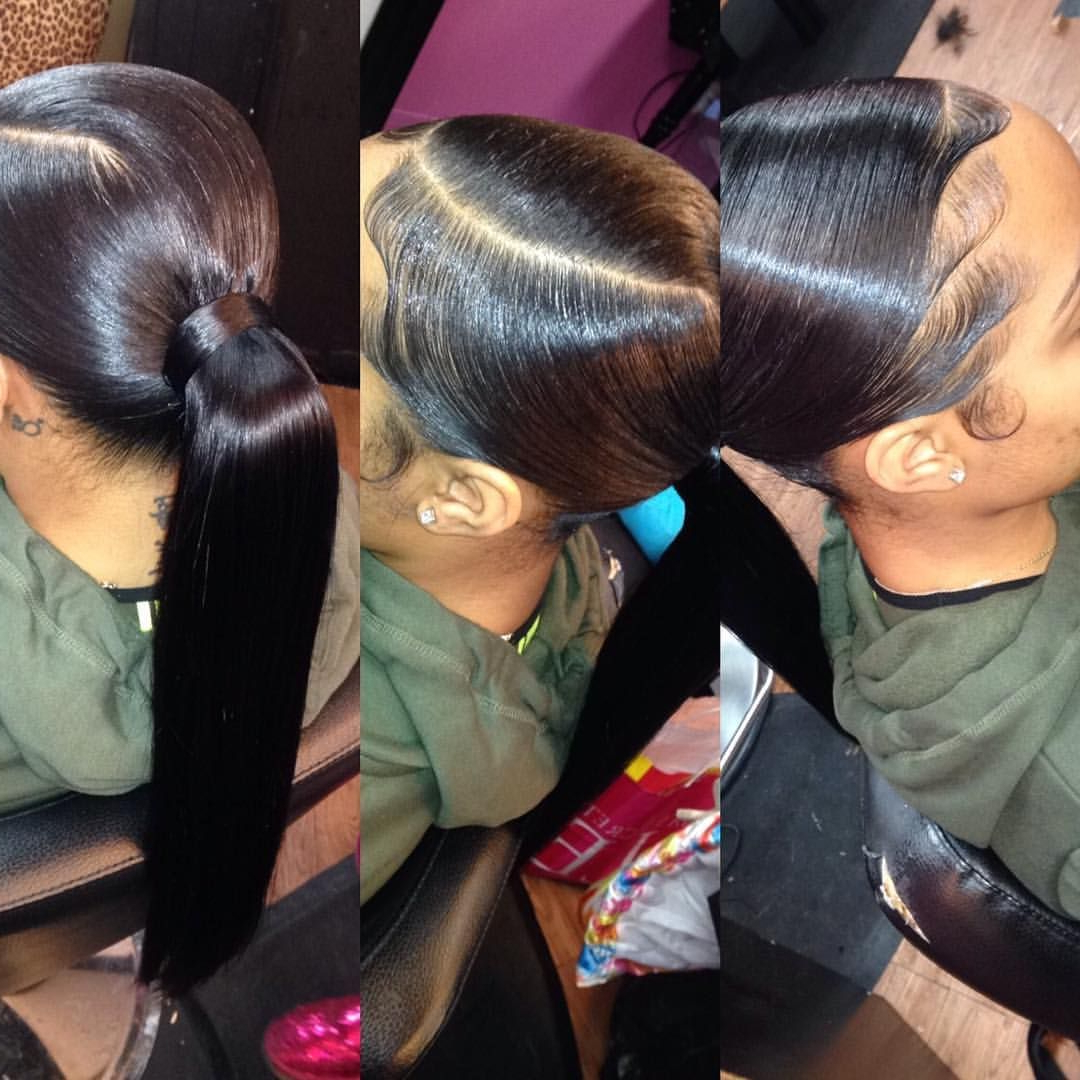 Well Liked Triple Weaving Ponytail Hairstyles With A Bow With Regard To Pinteshia On Natural Hair Style In (View 17 of 20)