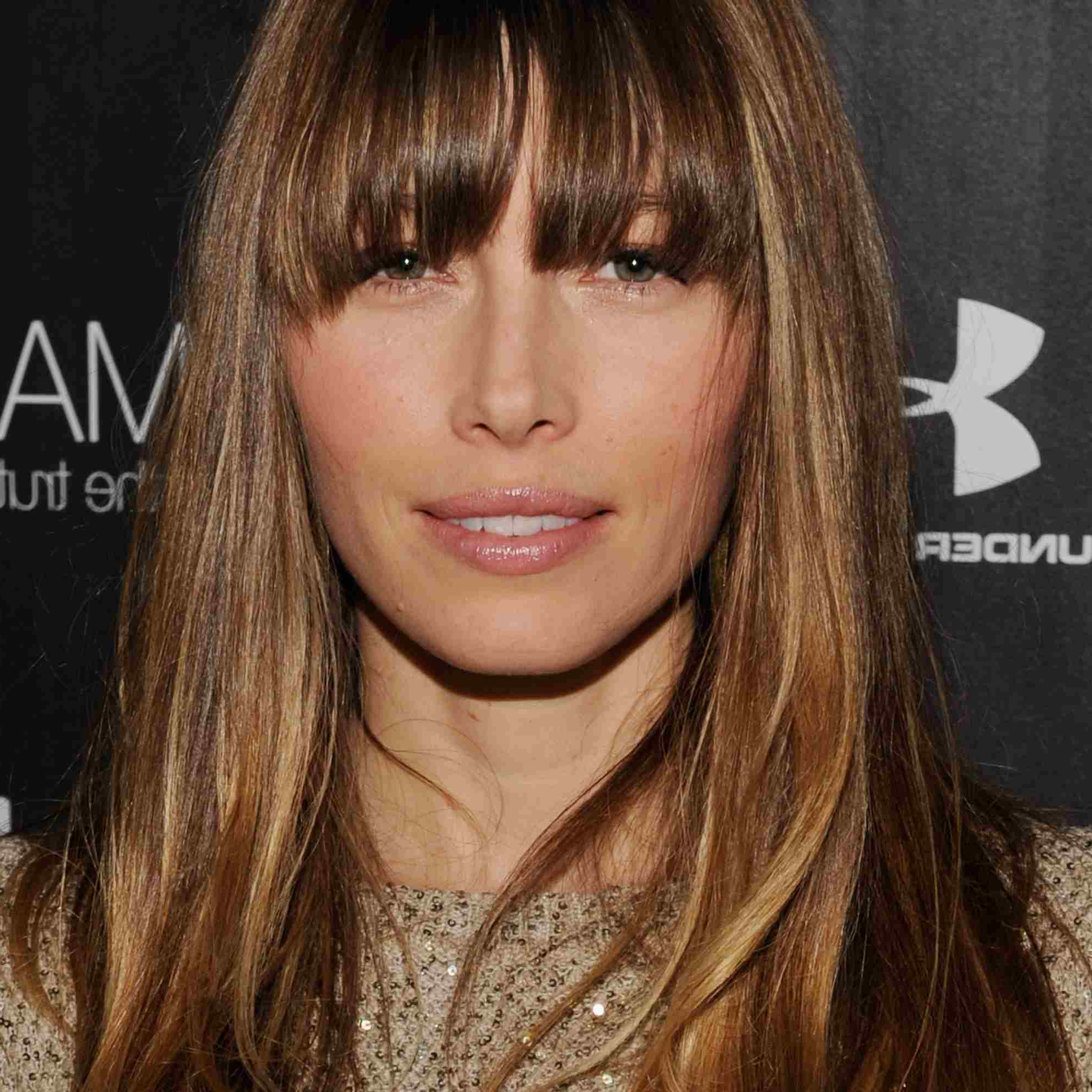 Widely Used Long Hair And Blunt Bangs Hairstyles For The Best Hairstyles For Women In Their 30S, As Pictured On Celebrities (View 20 of 20)