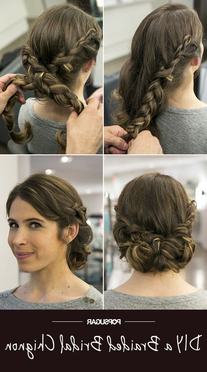 1 Wedding, 3 Hairstyles: Ceremony, Reception, And Brunch With Fashionable Braided Chignon Hairstyles (Gallery 4 of 20)