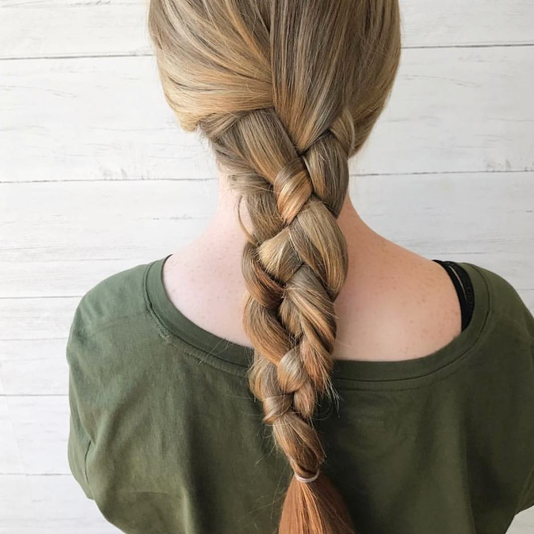 10 Braided Hairstyle Ideas For Balayage Ombré Hair 2019 With Regard To Most Current Blonde Asymmetrical Pigtails Braid Hairstyles (View 8 of 20)