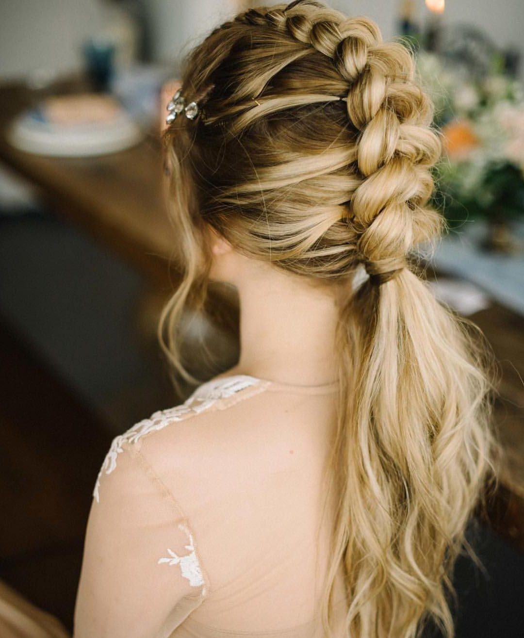 10 Braided Hairstyles For Long Hair – Weddings, Festivals Intended For Recent Brown Woven Updo Braid Hairstyles (View 6 of 20)