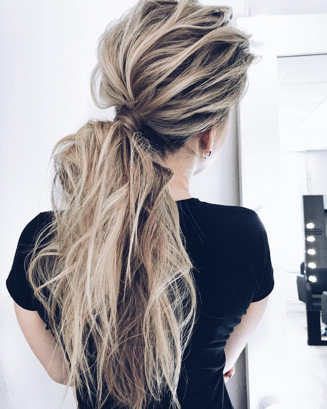 10 Creative Ponytail Hairstyles For Long Hair, Summer With Famous Loosely Tied Braided Hairstyles With A Ribbon (View 1 of 20)