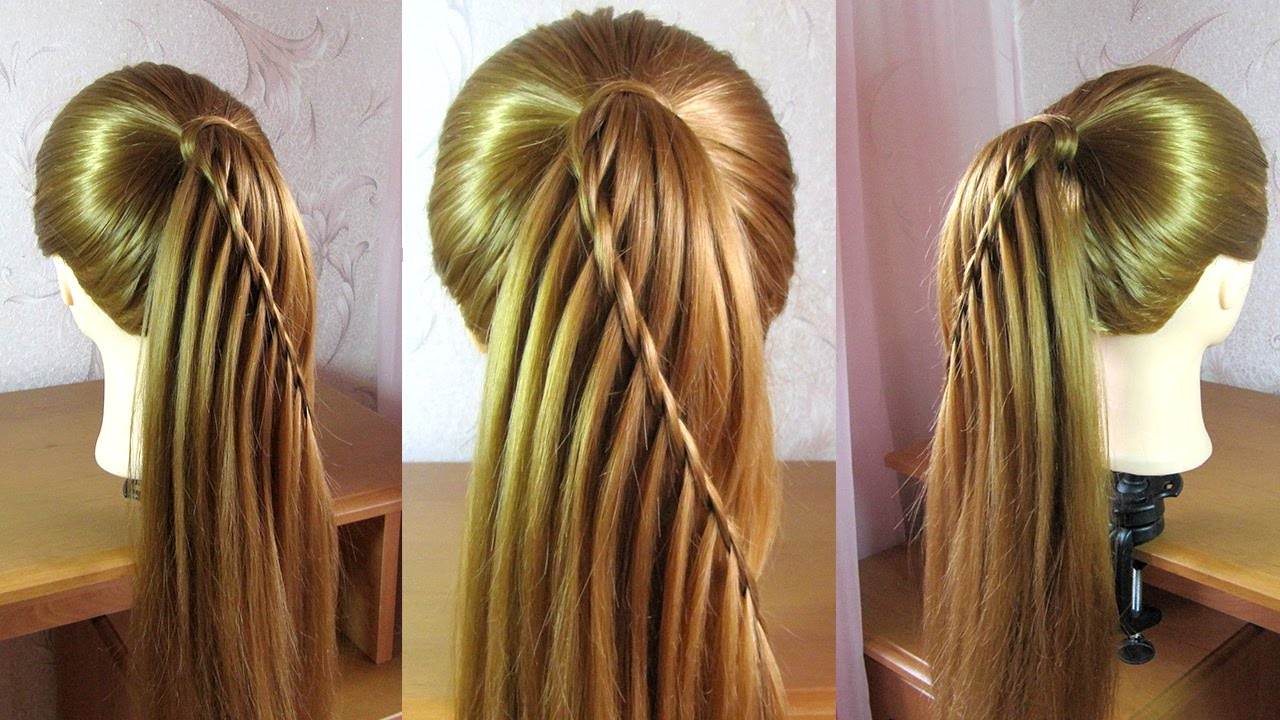 10 Easy Waterfall Braids You Can Do At Home – The Trend Spotter Throughout Most Recent High Waterfall Braided Hairstyles (View 2 of 20)