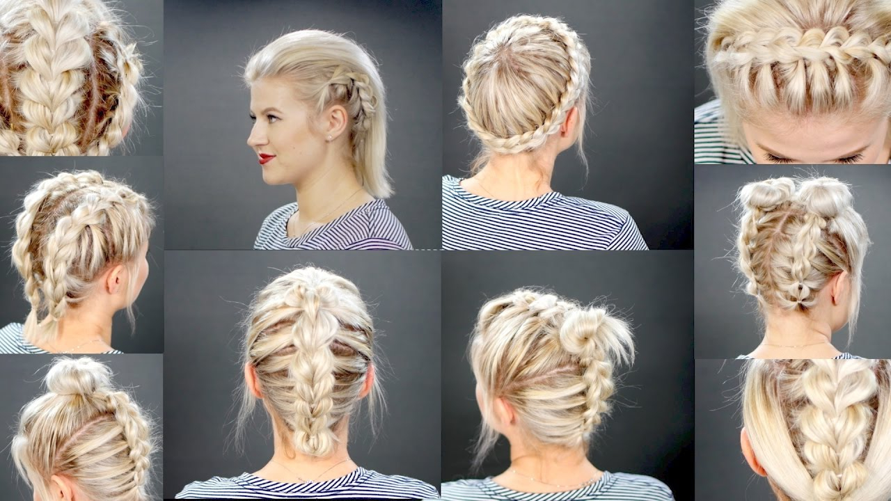 10 Faux Braided Short Hairstyles Tutorial (View 1 of 20)