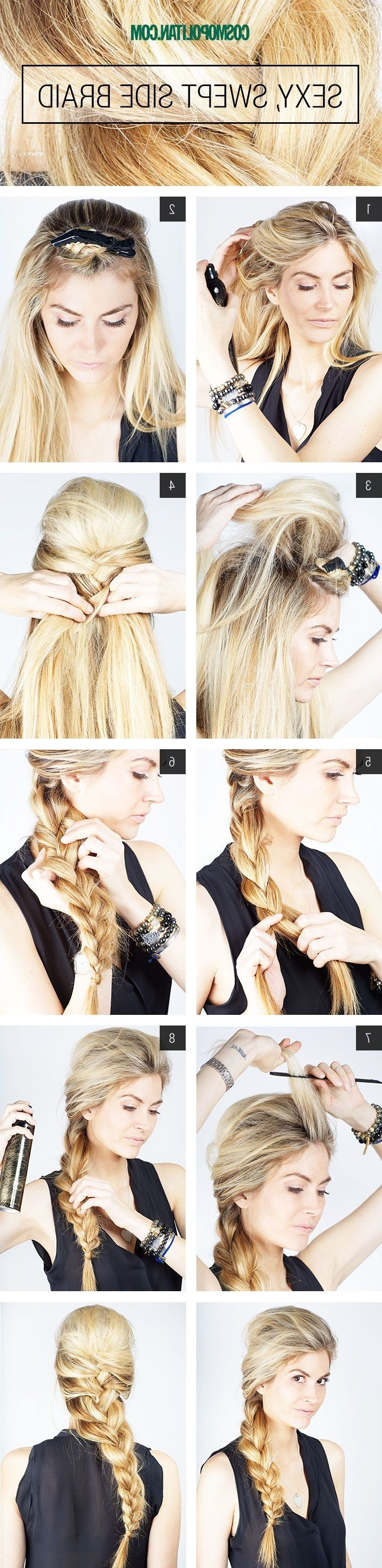 10 French Braids Hairstyles Tutorials: Everyday Hair Styles Pertaining To 2020 Three Strand Side Braided Hairstyles (Gallery 6 of 20)