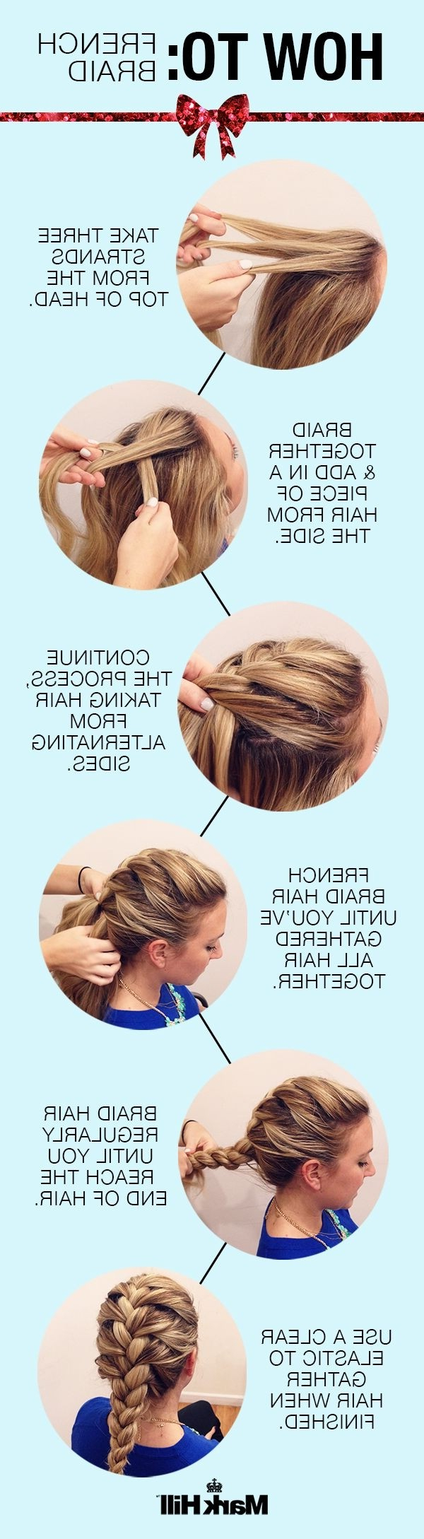 10 French Braids Hairstyles Tutorials: Everyday Hair Styles Pertaining To Famous Three Strand Long Side Braided Hairstyles (Gallery 10 of 20)
