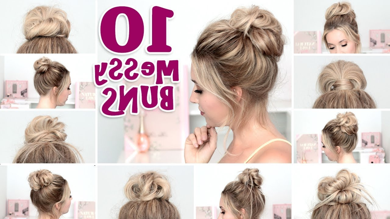 10 Messy Bun Hairstyles For Back To School, Party, Everyday ❤ Quick And Easy Hair Tutorial In Best And Newest Messy Bun Hairstyles (View 1 of 20)
