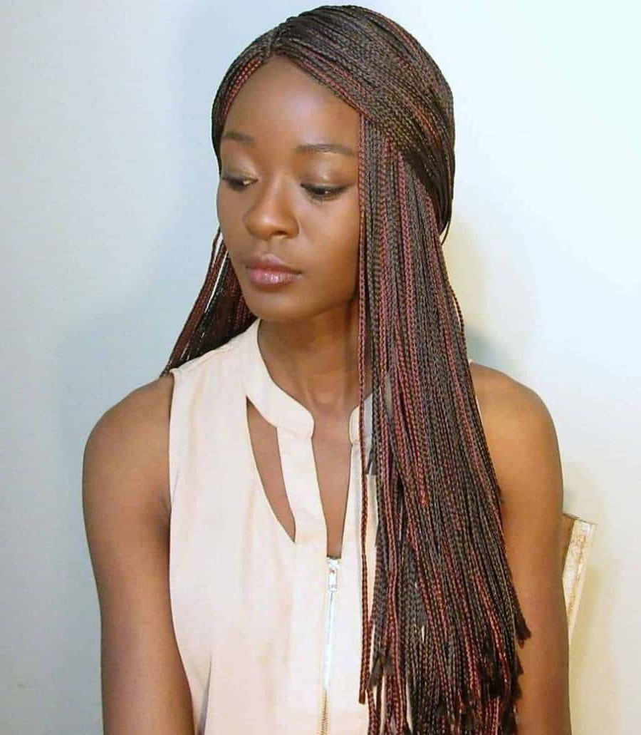 10 Micro Crochet Braids For Fashionable African American Throughout Best And Newest Curly And Messy Micro Braid Hairstyles (View 9 of 20)