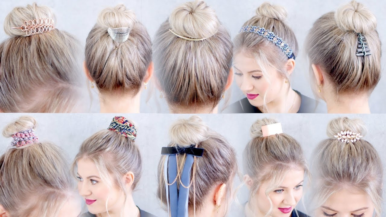 10 New Hairstyles Accessories For Buns And Top Knots (View 5 of 20)