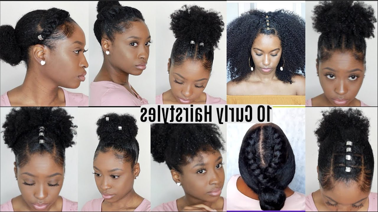 10 Quick Easy Hairstyles For Natural Curly Hair (View 12 of 20)