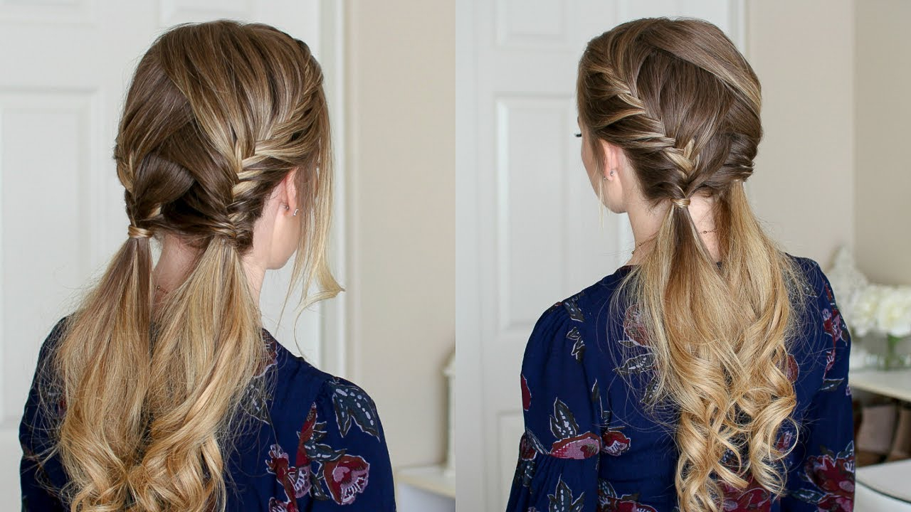 10 Trendiest Double Fishtail Braids In 2019 – Hairstylecamp Inside Newest Thick Two Side Fishtails Braid Hairstyles (View 11 of 20)