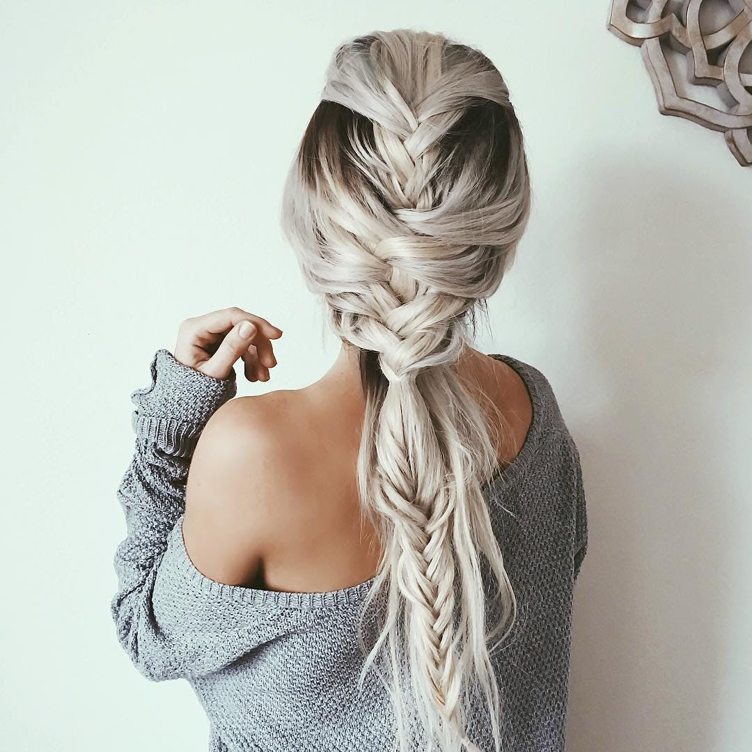 100 Of The Best Braided Hairstyles You Haven't Pinned Yet Pertaining To Most Recently Released Over The Shoulder Mermaid Braid Hairstyles (View 8 of 20)