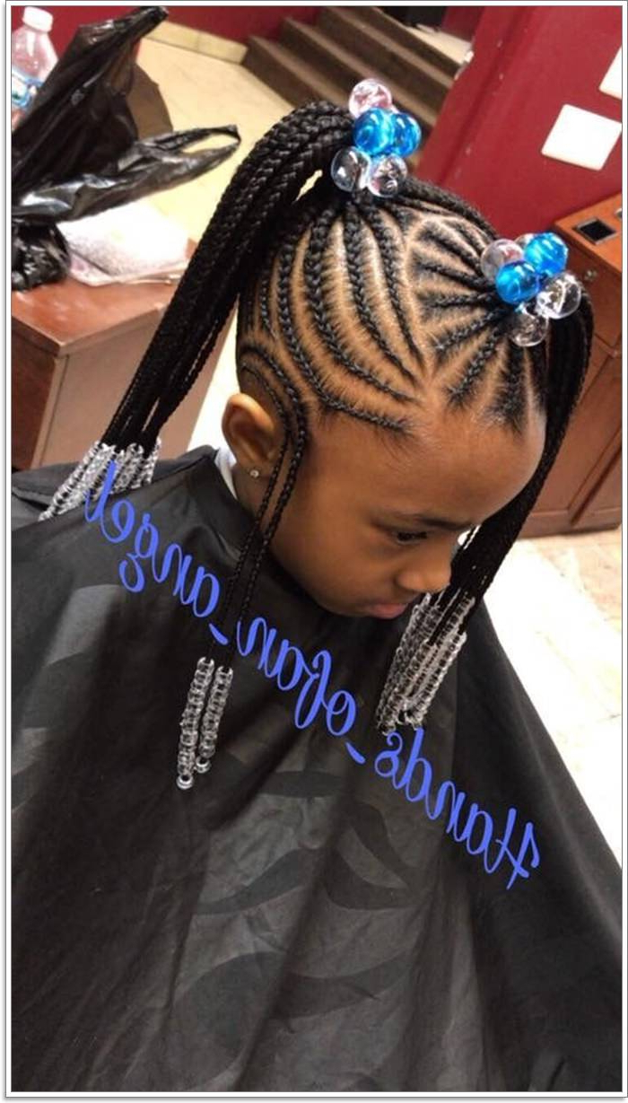 103 Adorable Braid Hairstyles For Kids Inside Best And Newest Box Braid Bead Ponytail Hairstyles (Gallery 19 of 20)