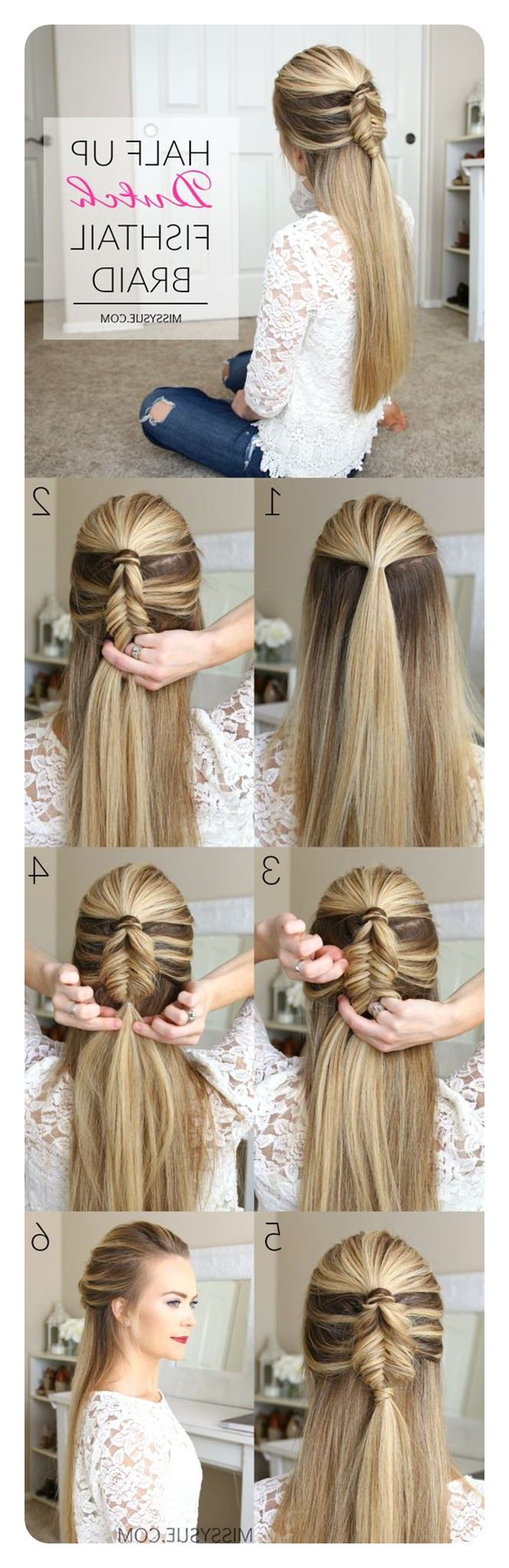 104 Fishtail Braids Hairstyles That Turn Heads Intended For Well Liked Thick Two Side Fishtails Braid Hairstyles (Gallery 5 of 20)
