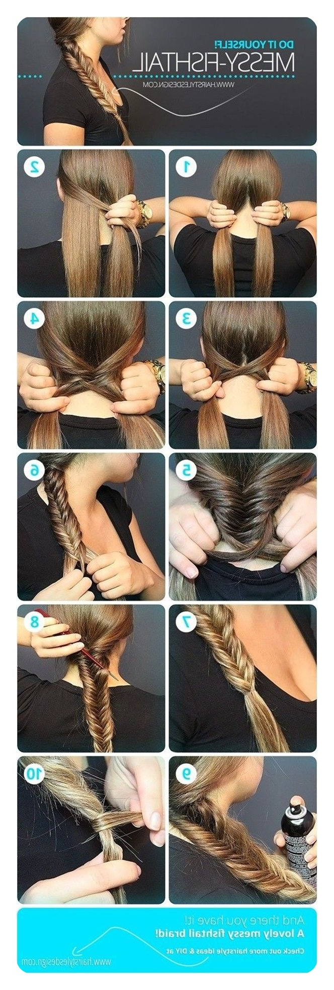 104 Fishtail Braids Hairstyles That Turn Heads Throughout Most Recent Messy Side Fishtail Braided Hairstyles (View 7 of 20)