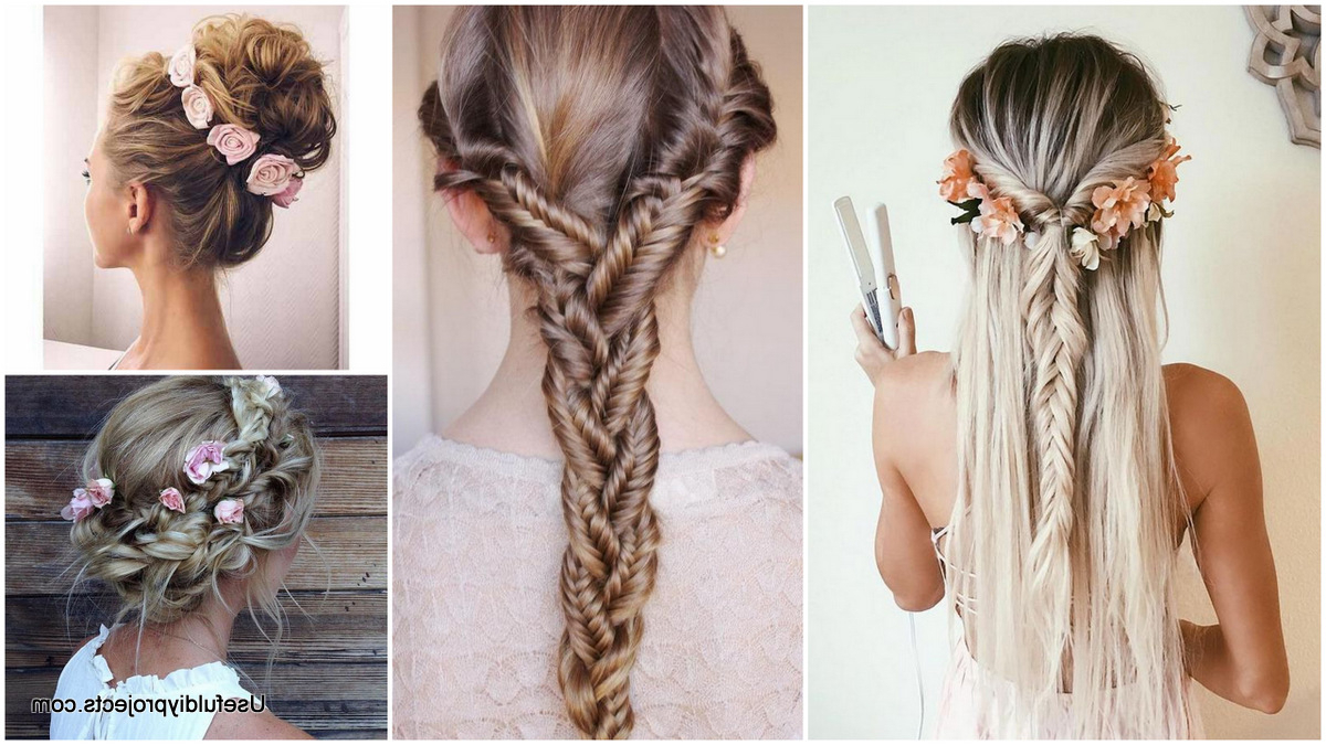111 Cute Hairstyles To Go With Any Occasion – From Easy Buns Regarding Most Current Pastel Colored Updo Hairstyles With Rope Twist (Gallery 15 of 20)
