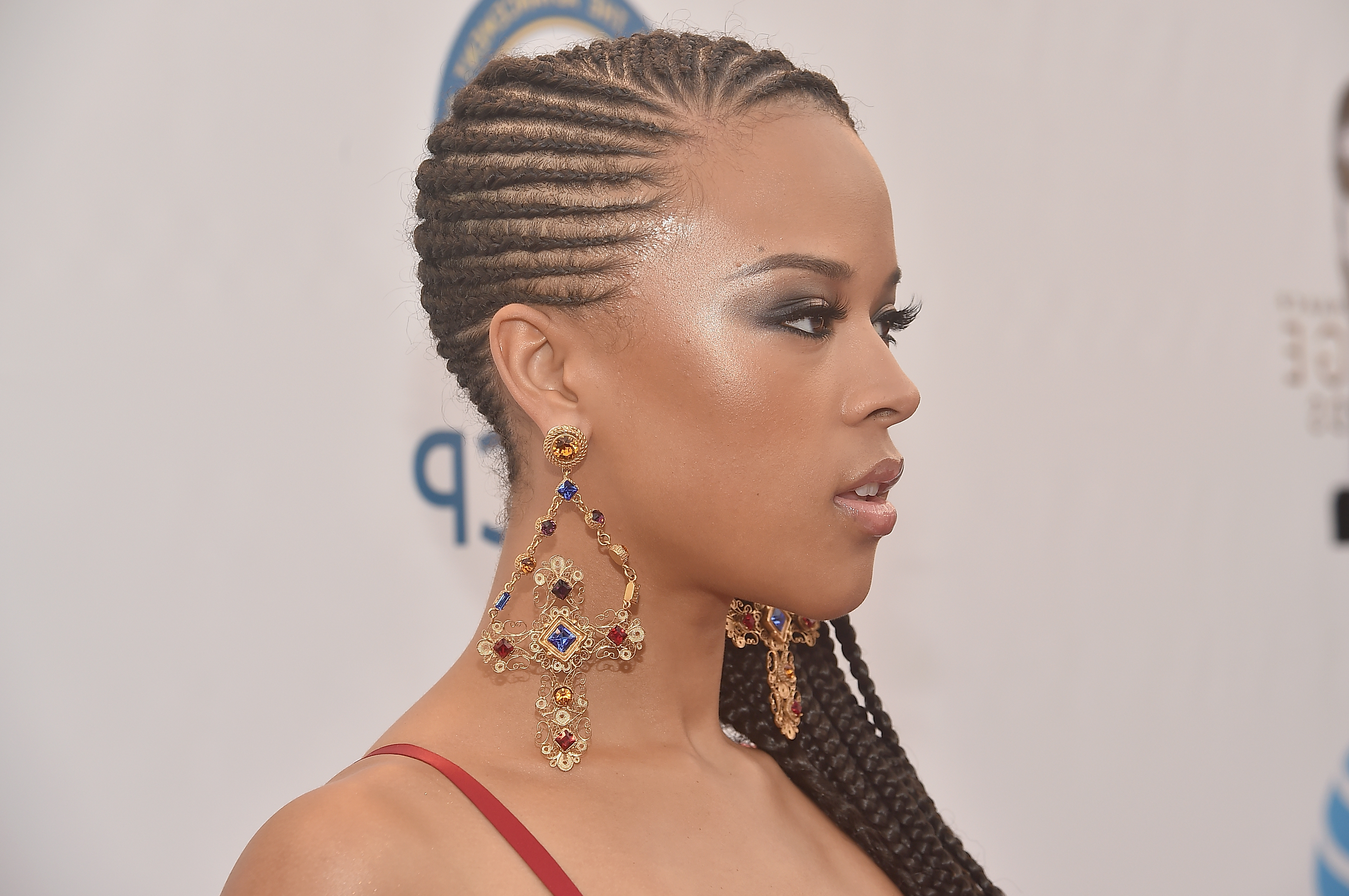 12 Braided Styles For Natural Hair That Will Make Dealing Regarding Most Recently Released Side Swept Twists Micro Braids With Beads (View 1 of 20)