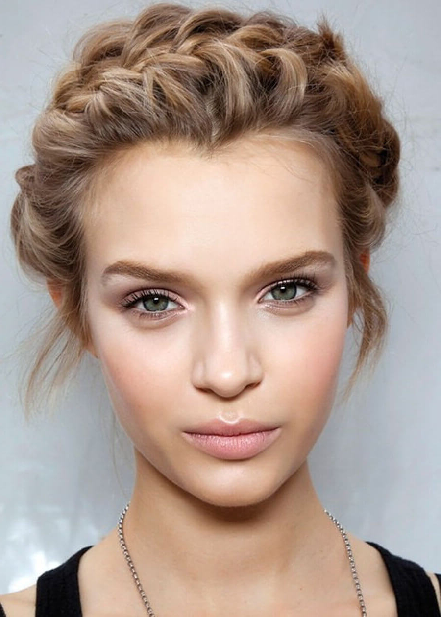 12 Easy Braided Hairstyles We Love Throughout Newest Messy Crown Braided Hairstyles (View 1 of 20)