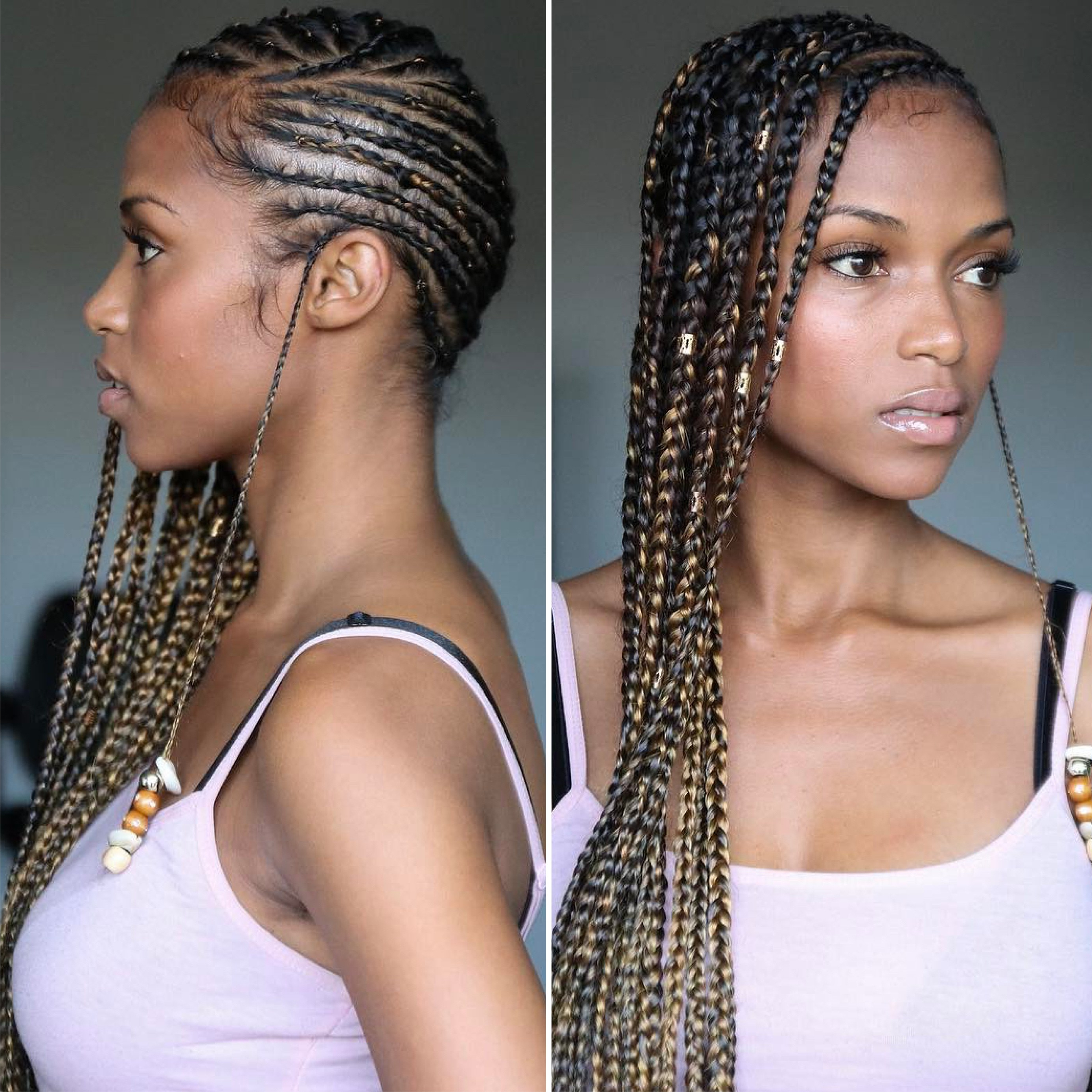 12 Gorgeous Braided Hairstyles With Beads From Instagram For Most Popular Golden Swirl Lemonade Braided Hairstyles (View 2 of 20)