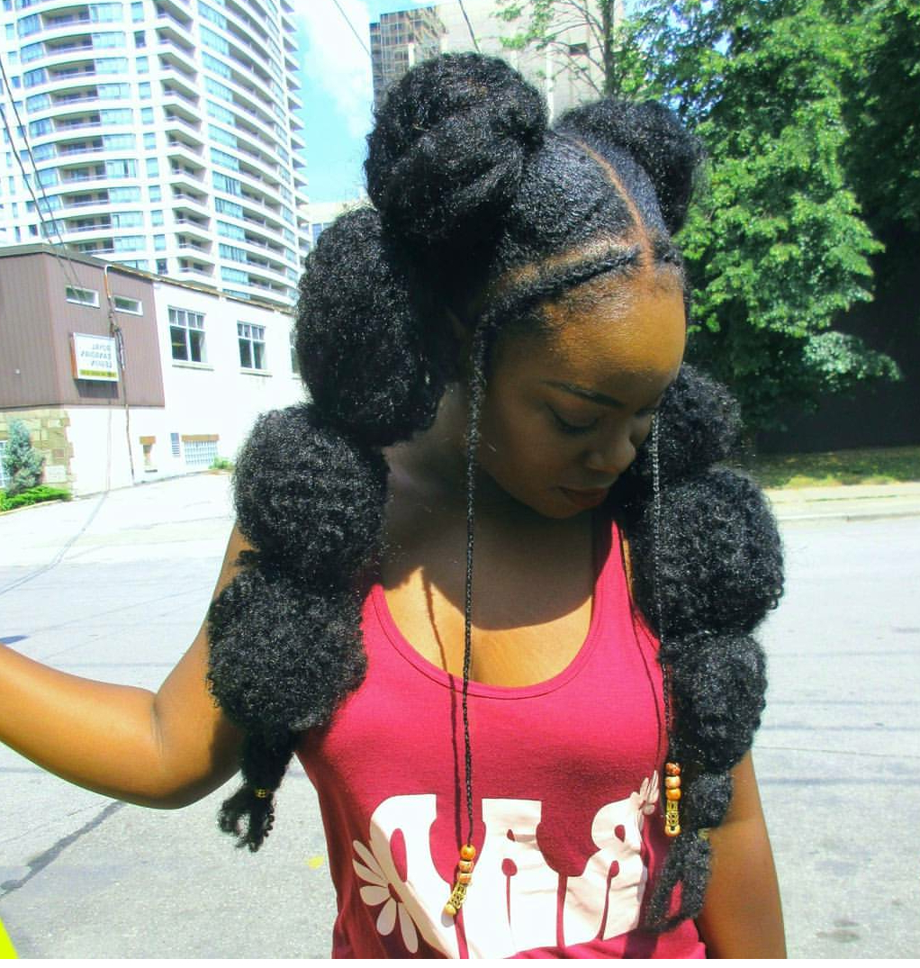 12 Gorgeous Must See Bubble Ponytail Styles On Natural Hair For Well Liked Natural Bubble Ponytail Updo Hairstyles (View 3 of 20)