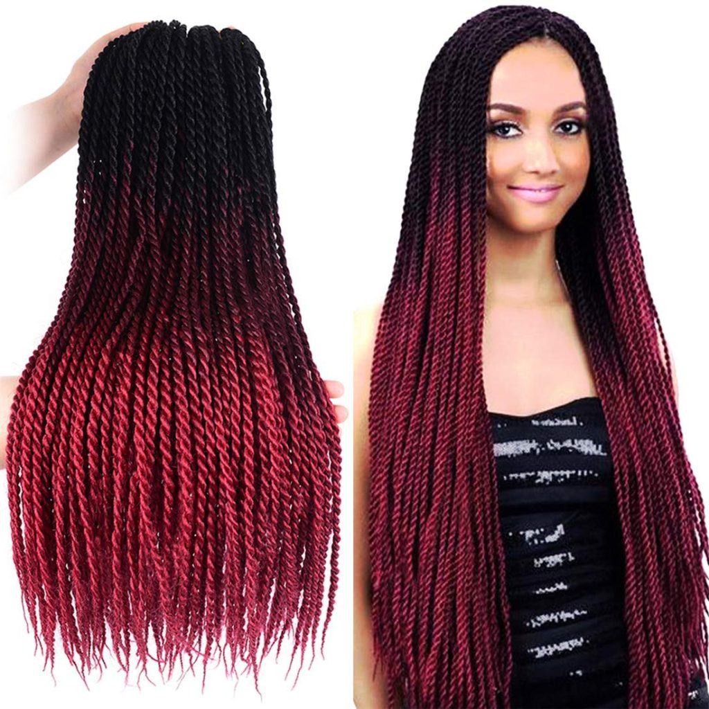 12 Ombre Style Crochet Braids With Great Reviews. Plus How With Latest African Red Twists Micro Braid Hairstyles (Gallery 4 of 20)
