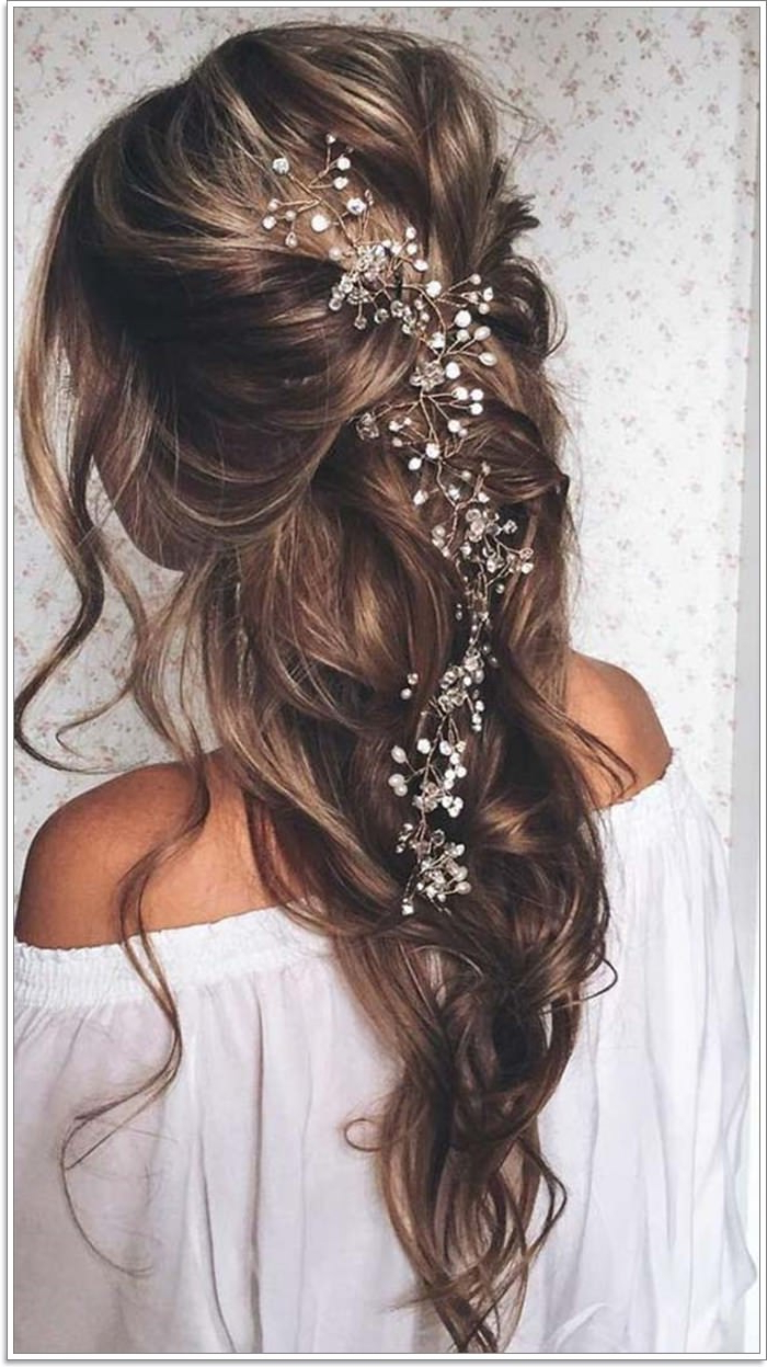135 Whimsical Half Up Half Down Hairstyles You Can Wear For Pertaining To Newest Curled Half Up Hairstyles (View 14 of 20)