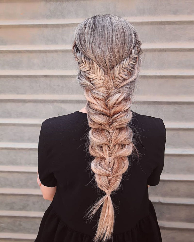 14 Gorgeous Fishtail Braids To Rock During Festival Season With Regard To Fashionable Oversized Fishtail Braided Hairstyles (View 6 of 20)