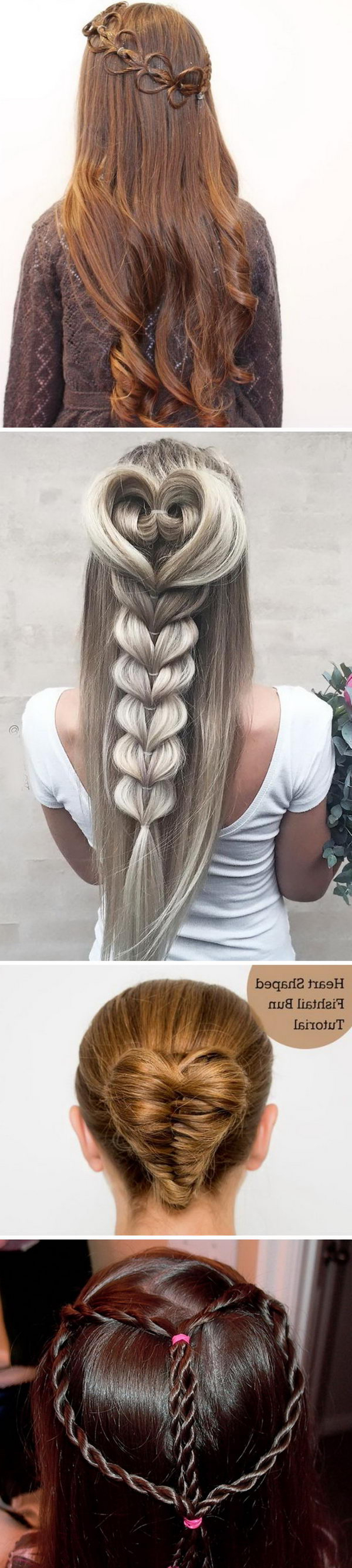 15+ Great Valentine's Day Hairstyles For Girls Within Famous Heart Shaped Fishtail Under Braid Hairstyles (View 1 of 20)