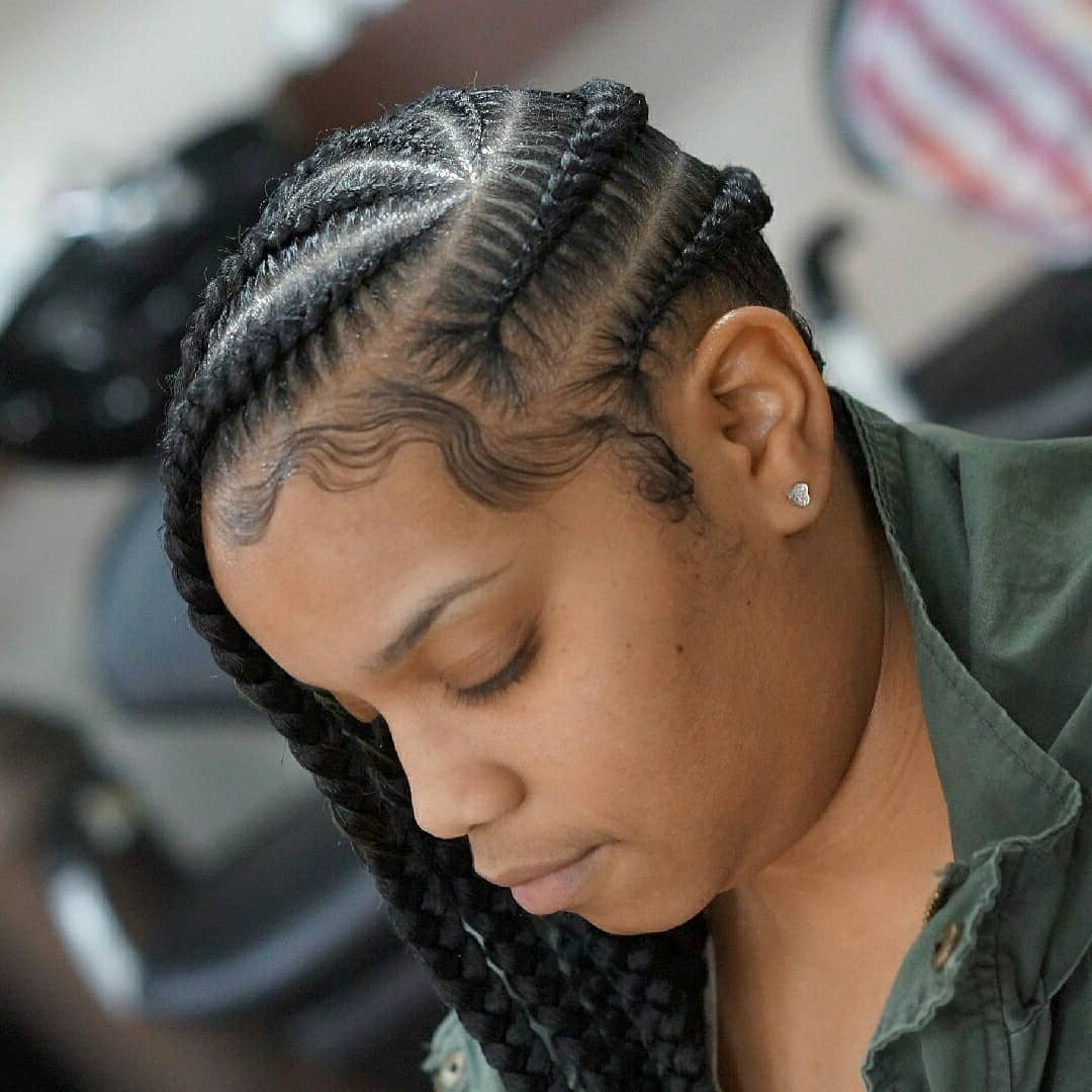 155 Cornrow Braids Collection You Cannot Miss! – Prochronism With Regard To Newest Thick Cornrows Braided Hairstyles (View 1 of 20)