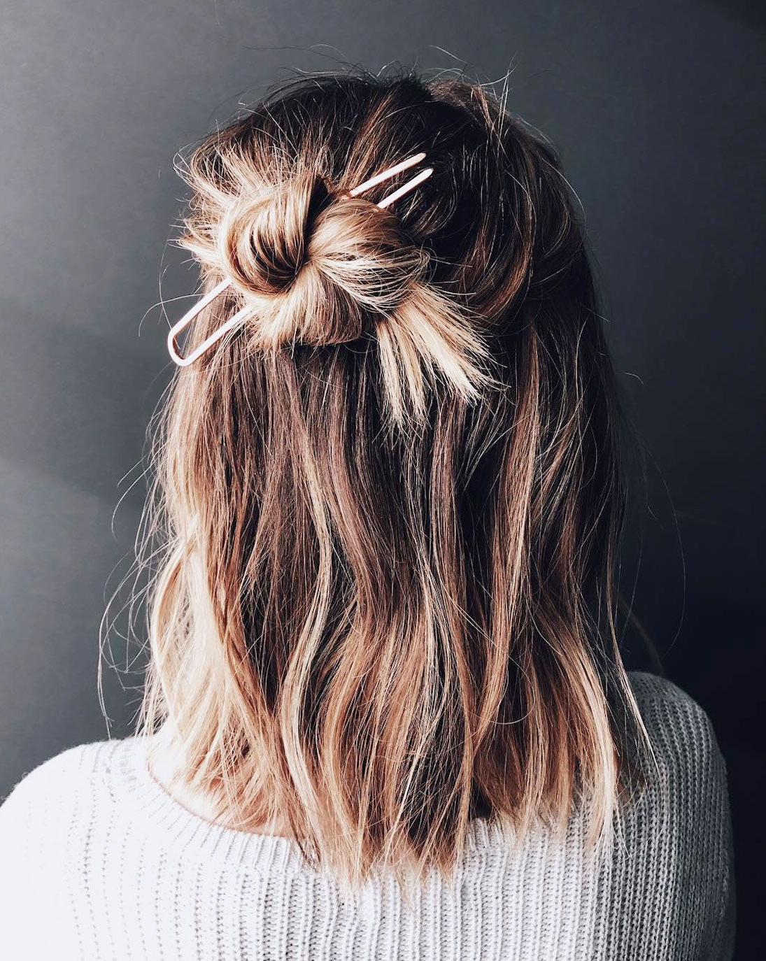 16 Half Bun Hairstyles For 2019 – How To Do A Half Bun Tutorial Intended For Newest Topknot Hairstyles With Mini Braid (View 9 of 20)