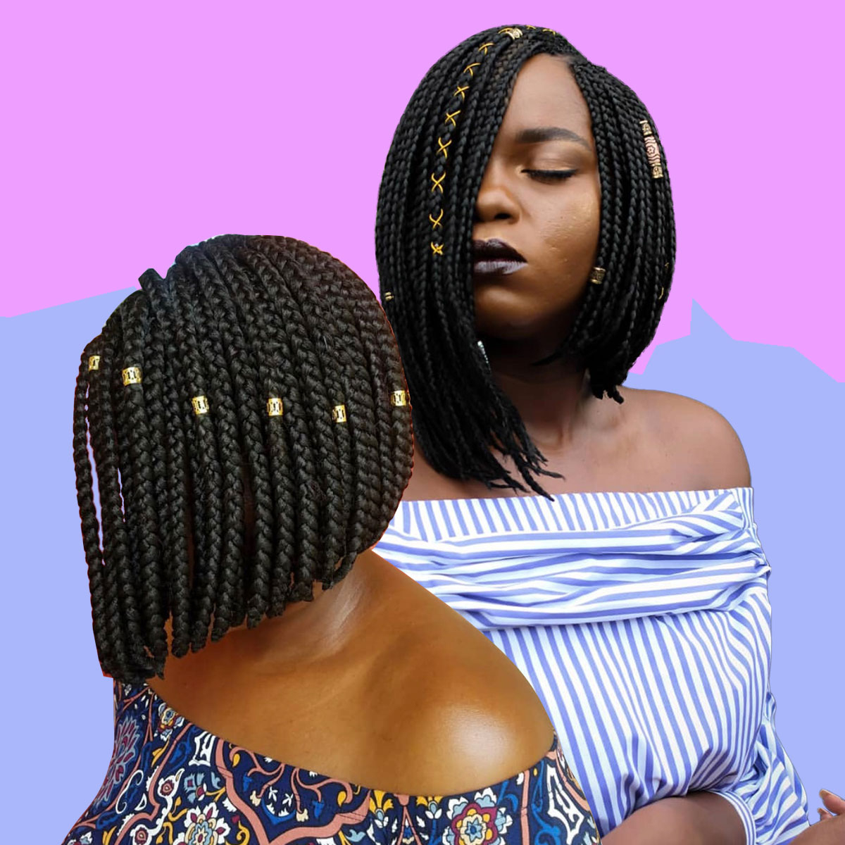 17 Beautiful Braided Bobs From Instagram You Need To Give A Try Pertaining To Current Straight Mini Braids With Ombre (View 1 of 20)
