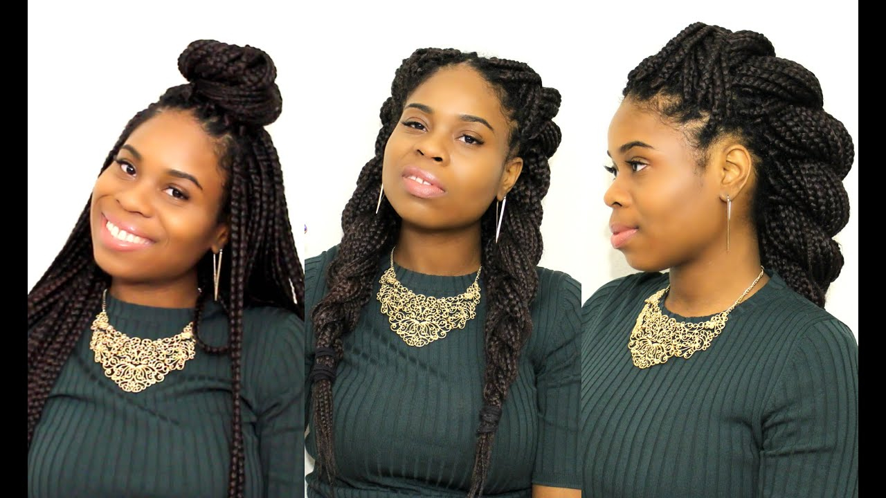17 Gorgeous Box Braids Styles And How To Care For Them Throughout Current High Rope Braid Hairstyles (View 1 of 20)