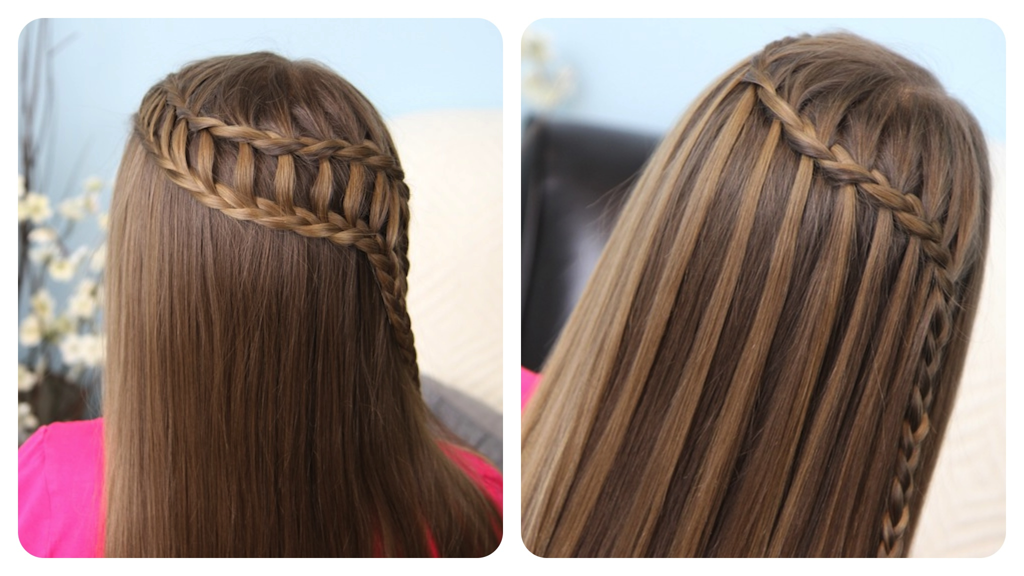 2 In 1 Hairstyles Regarding Best And Newest Waterfall Braids Hairstyles (View 10 of 20)