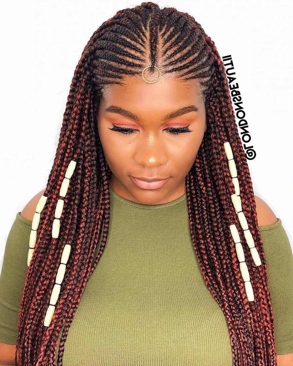 20 Amazing Fulani Braids For Women Of All Ages In 2019 With Famous Braided Crown Hairstyles With Bright Beads (View 3 of 20)