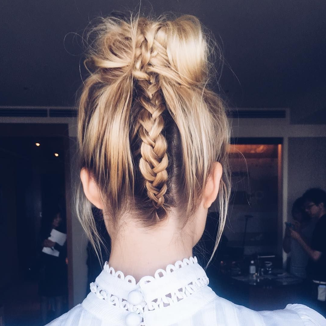 20 Braided Updo Hairstyles – Pictures Of Pretty Updos With In Widely Used Plaited Chignon Braided Hairstyles (View 13 of 20)