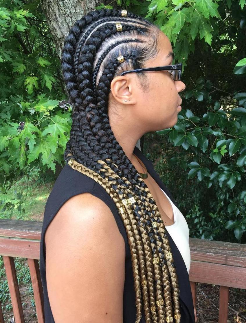 20 Impressive Ghana Braids For An Ultimate Diva Look Throughout Popular Golden Blonde Tiny Braid Hairstyles (View 11 of 20)
