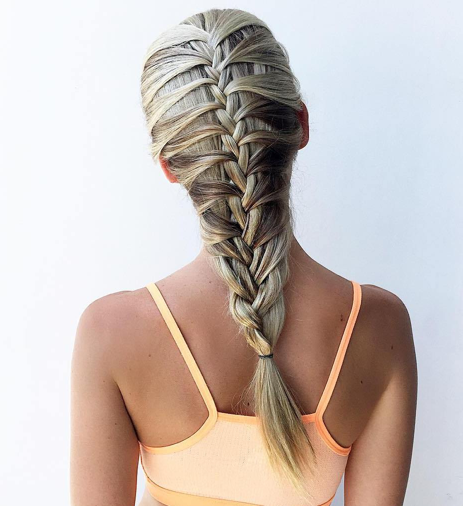 20 Magical Ways To Style A Mermaid Braid For 2020 Messy Curly Mermaid Braid Hairstyles (View 14 of 20)