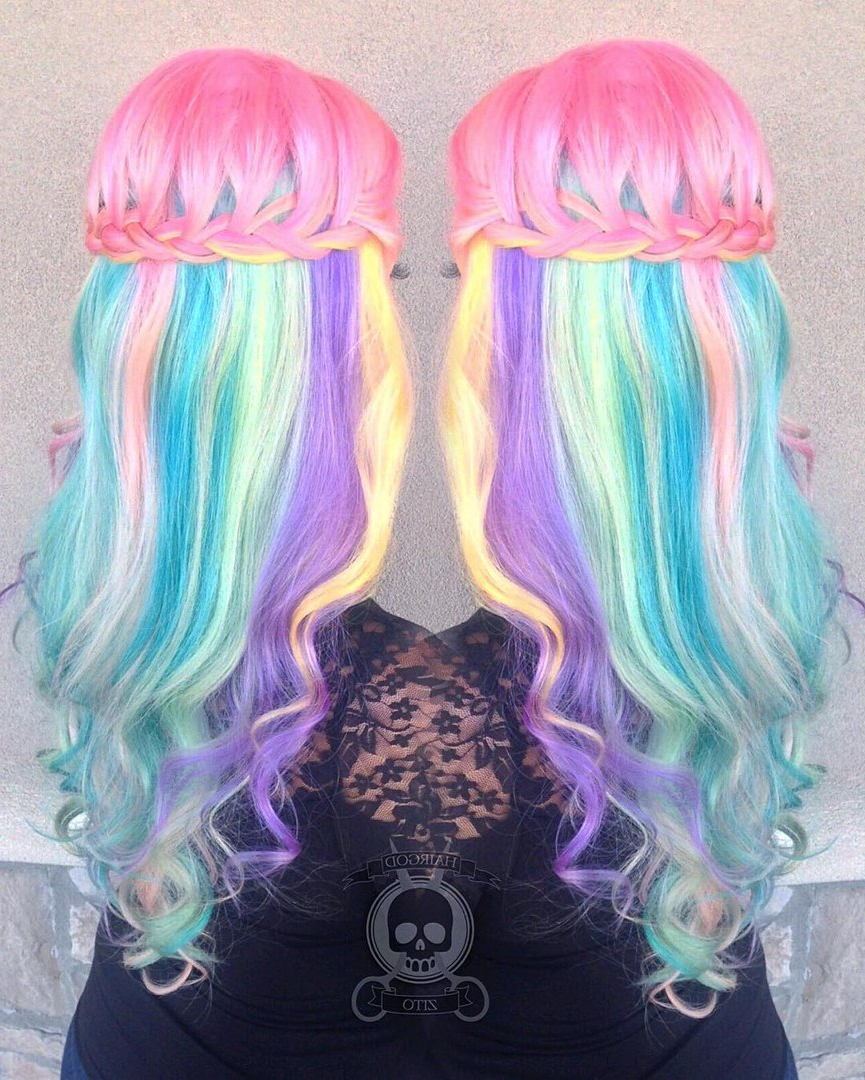 20 Styles With Cotton Candy Hair That Are As Sweet As Can Be Within Best And Newest Cotton Candy Colors Blend Mermaid Braid Hairstyles (View 2 of 20)