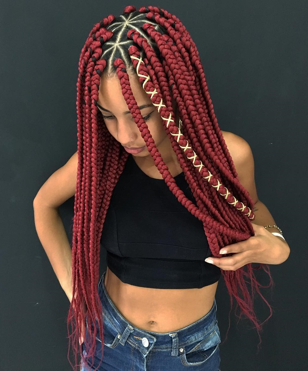 20 Unrivaled Triangle Braids To Try With Regard To Widely Used Wrap Around Triangular Braided Hairstyles (View 11 of 20)