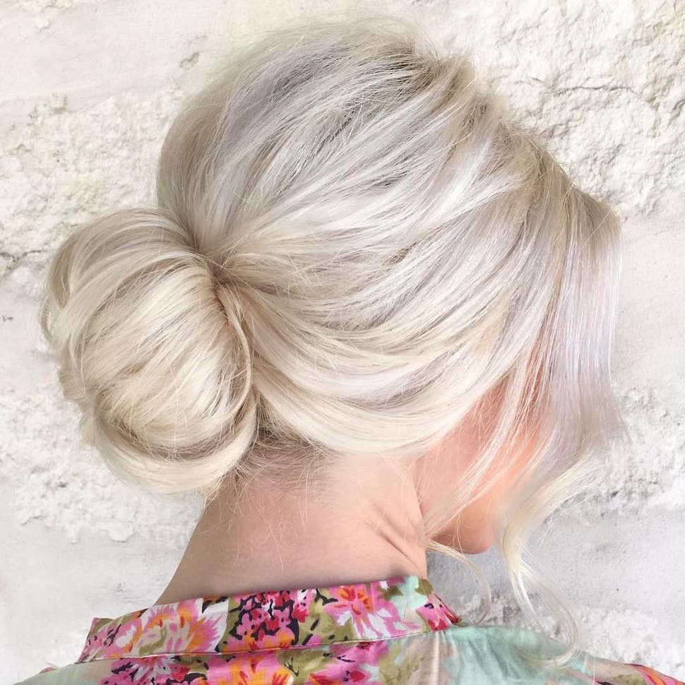20 Volume Boosting Sock Buns You'll Love To Try Pertaining To Fashionable High Volume Donut Bun Updo Hairstyles (View 6 of 20)